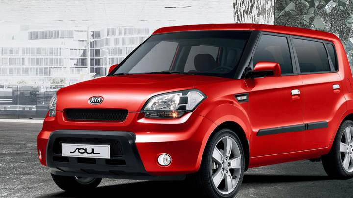 Kia Soul In Red Front Side Pose
